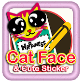 Cat Face new Free Sticker