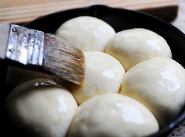 If desired, brush un-baked rolls with melted butter or egg wash (1 egg beaten...