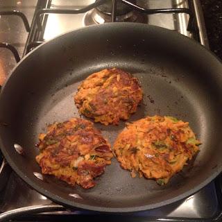 Sweet Potato, Plantain and Scallion Patties