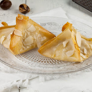 Pear And Blue Cheese Filo Pastries.