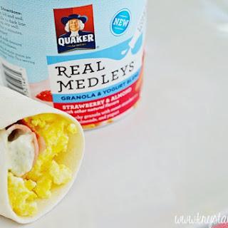 Bacon + Feta Omelet Burrito Recipe