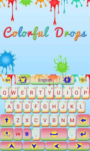 玩個人化App|Colorful Drops Keyboard Theme免費|APP試玩