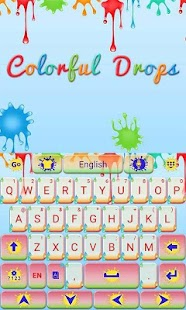 Colorful-Drops-Keyboard-Theme 3