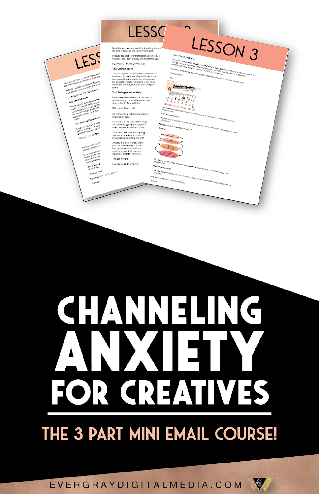 Do you want less anxiety and more creativity? There's an unconventional, innovative new way to not just manage your anxiety, but to harness it - the Channeling Anxiety for Creatives 3-Part Mini Email Course! Evergray Media