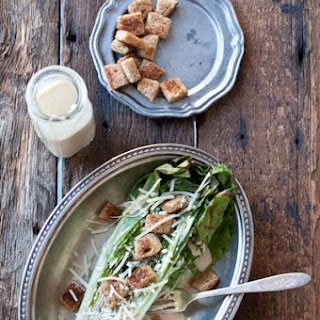 Grilled Romaine Salad with IPA Caesar Dressing.