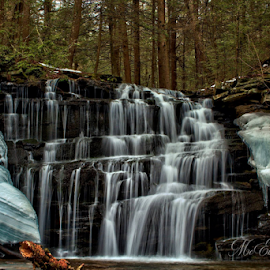 McElhattan Falls. by William Hamm - Typography Captioned Photos