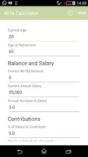 401k Calculator - Apps on Google Play
