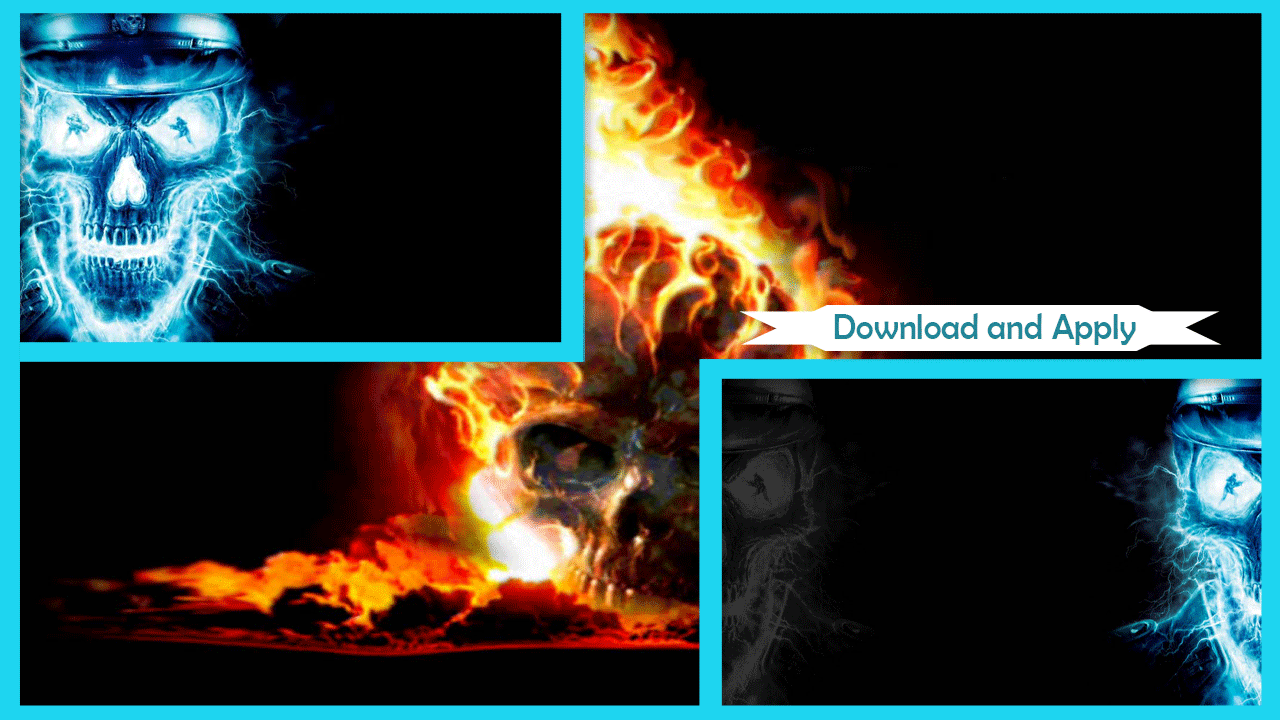 Blue fire skull wallpaper android apps on google play blue fire skull wallpaper screenshot buycottarizona