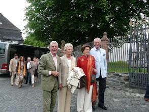 Photo: Colonel Jens Greve, Mette Margareta Greve, Baron Henrik Wedell-Wedellsborg, Baroness Gitte Wedell-Wedellsborg