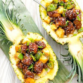 Chicken Teriyaki Pineapple Bowls Recipe