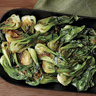 Baby Bok Choy with Warm Miso Ginger Dressing