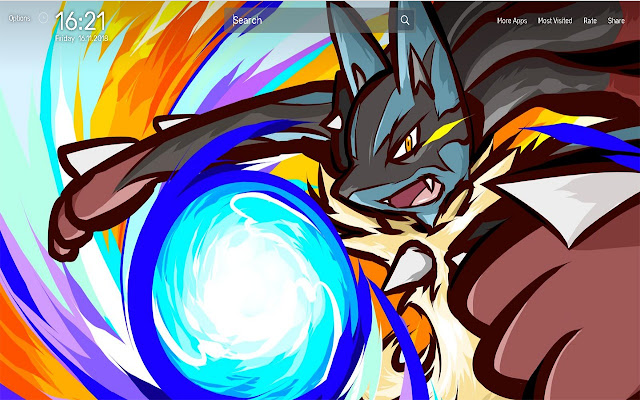 Lucario Pokemon Wallpapers NewTab Theme