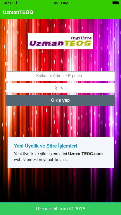 UzmanTEOG- screenshot