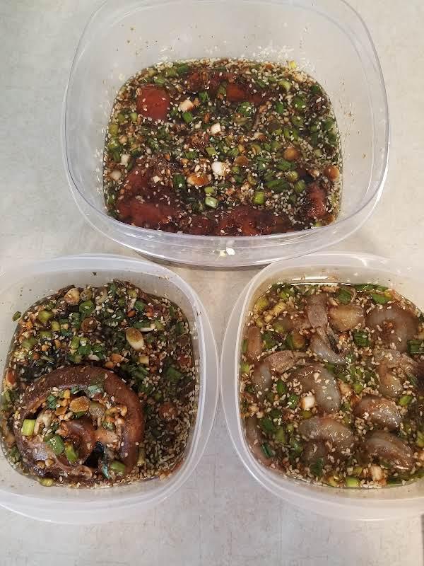 Chicken, Shrimp And Portobello Mushrooms