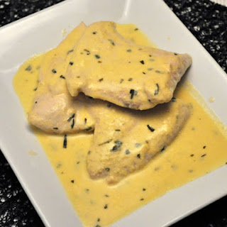 Turkey Cutlets with Mustard Sauce.