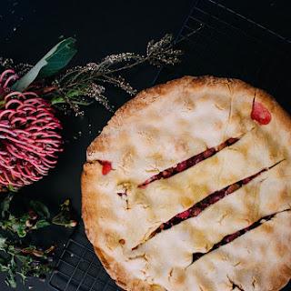 Rhubarb & Rosewater Pie