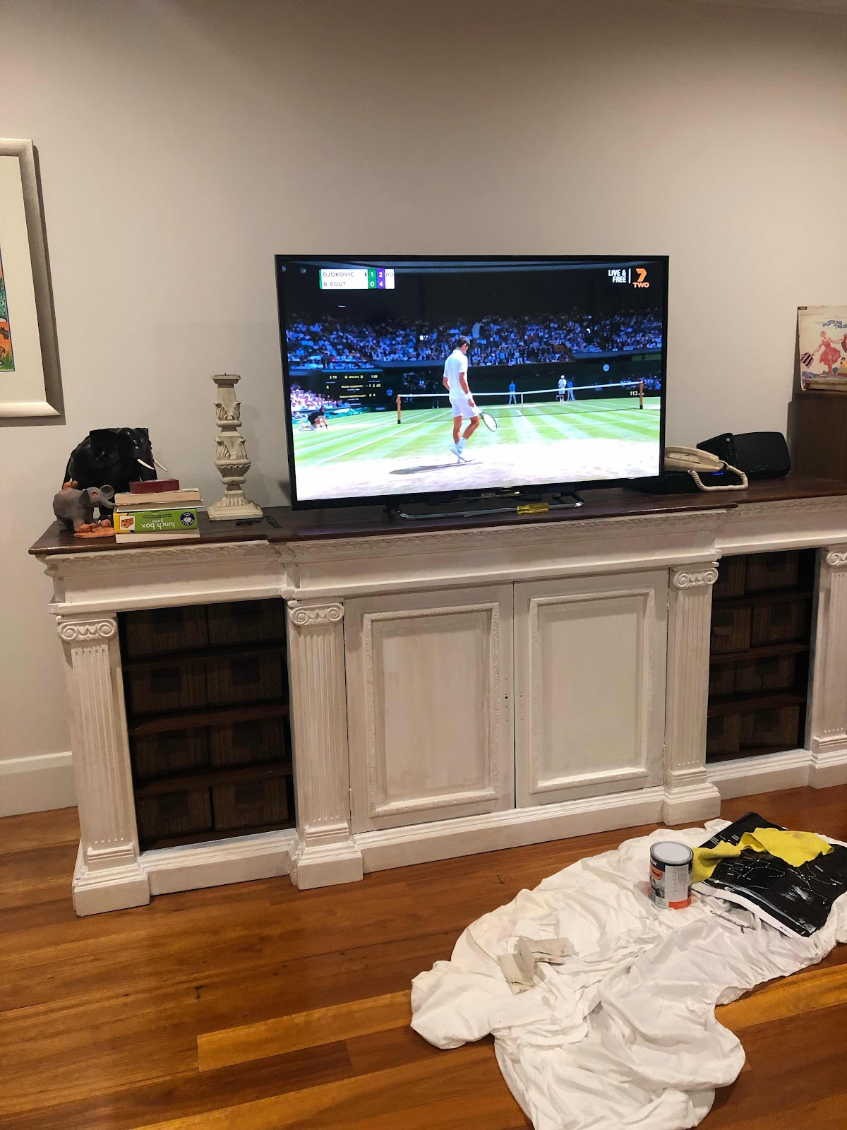 white painted tv cabinet Lilyfield Life