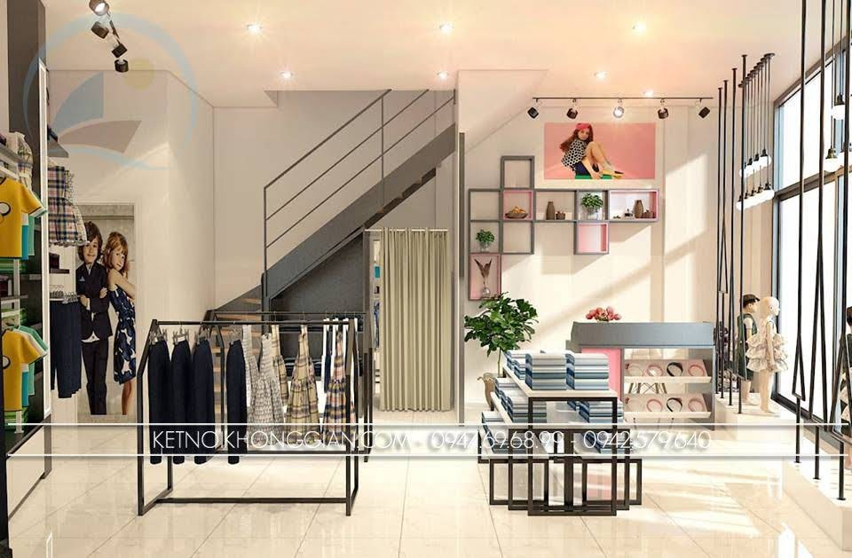 thiết kế shop thời trang trẻ em Chikids 4