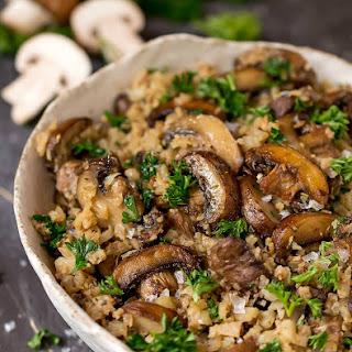 Cauliflower Mushroom Rice Recipe