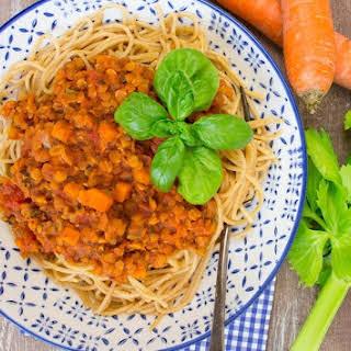 Spaghetti with Lentil Bolognese.