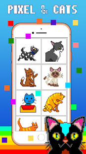 Happy Cats - Color by Numbers Pixel Art Sandbox