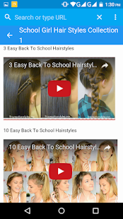 School girl hairstyle tutorial - náhled
