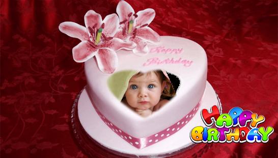 Birthday Cakes With Name Mitesh ~ Birthday cake photo frame feeling like party