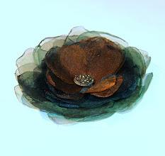 Photo: Цветок - брошка из органзы