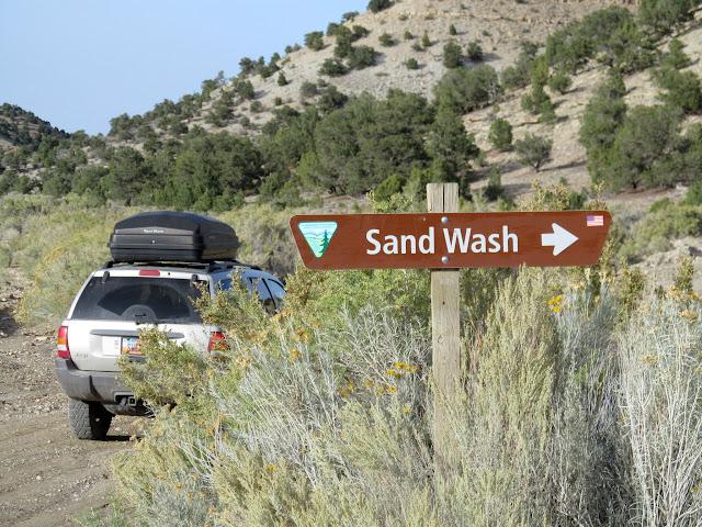 Sand Wash sign
