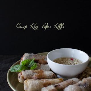 Crisp Rice Paper Rolls