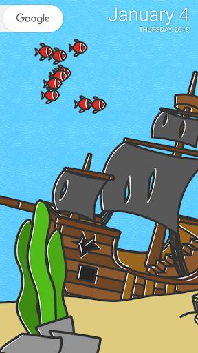 cartoon aquarium live wallpaper screenshot 1