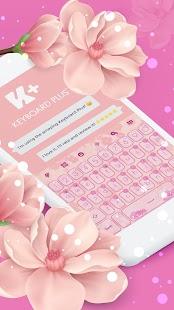 Roztomilé květiny Krásná klávesnice - náhled