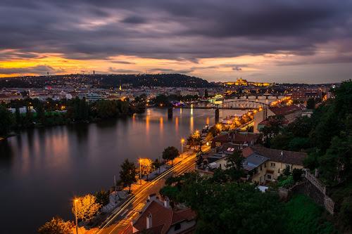 Last Light on Vyšehrad by Thurisaz Photography - Landscapes Sunsets & Sunrises ( clouds, sky, hdr, sunset, vyšehrad, vltava, czech republic, road, landscape, lanterns, prague, panorama, river,  )
