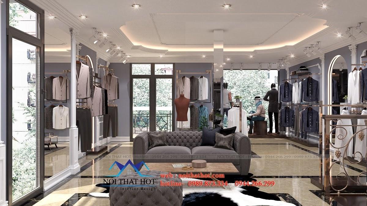 thiết kế shop thời trang sang trọng 9