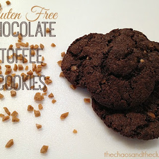 Easy Gluten Free Chocolate Toffee Cookies.