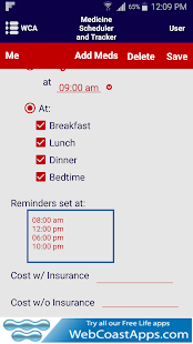 Medicine Scheduler and Tracker- screenshot thumbnail