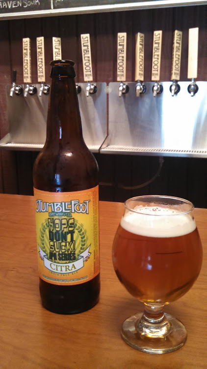 Logo of Stumblefoot Hops Don't Suck! Citra IPA