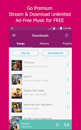 (APK) تحميل لالروبوت / PC JioMusic - HD Music & Radio تطبيقات screenshot