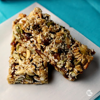 Pumpkinseed, Date, & Sesame Snack Bars