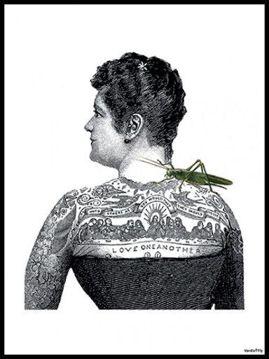Tattoo lady poster 30x40