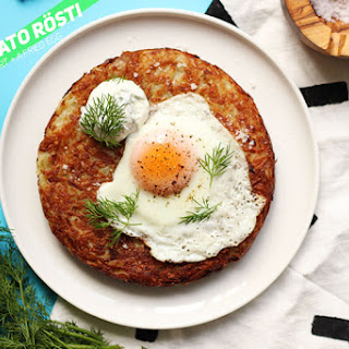 Huge Potato RÖSTI with Dill Yoghurt + a Fried Egg