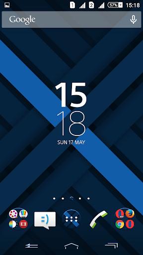 Xperien Full Blue X Theme