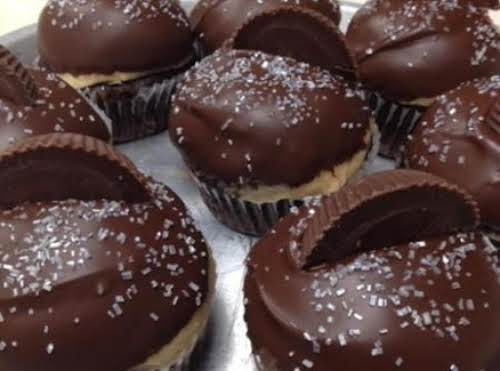 "Reese Cup Cupcakes (Buckeye Cupcakes) ""Incredible, absolutely incredible! Made these for my nephew's..."