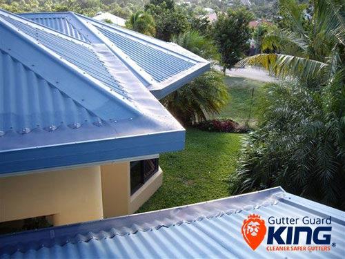 Gutter guard corro roof tas