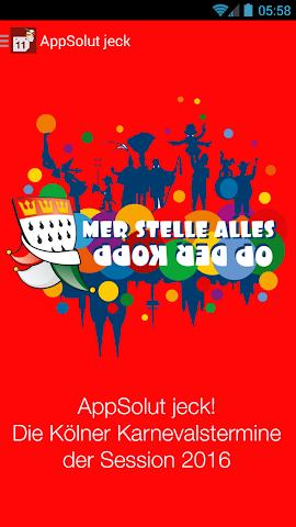 Screenshot 1 AppSolut jeck! Kölner Karneval