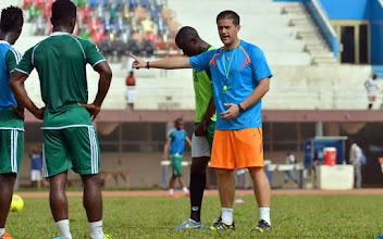 Photo: Coach McKinstry  [Training Camp ahead of Leone Stars v Swaziland Game on 31 May 2014 (Pic: Darren McKinstry)]