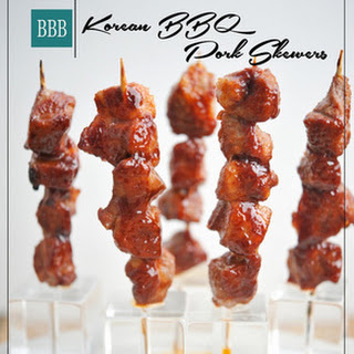 Korean BBQ Pork Skewers.