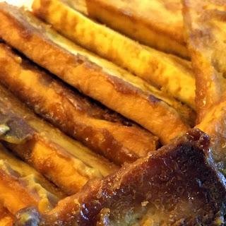Maple-Mustard Baked Tofu.