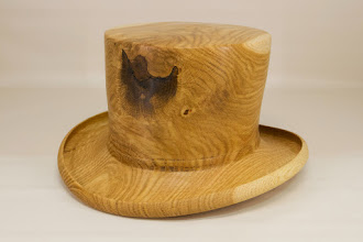 "Photo: Mike Colella 11"" x 6"" x 7"" hat [white oak]"