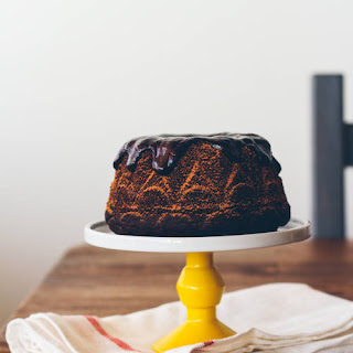 Chocolate Stout Cake With Whiskey Ganache.
